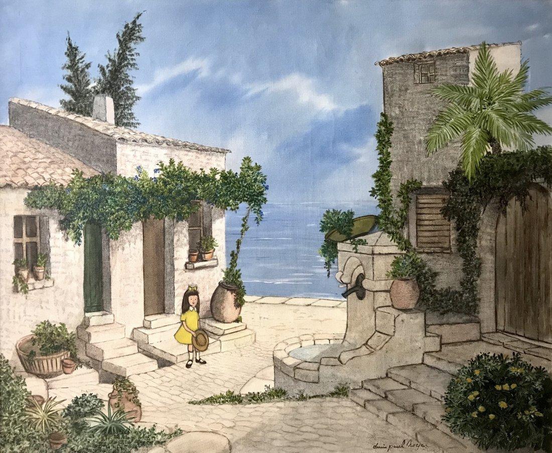 Denis Paul Noyer (French 1940); Mediterranean Courtyard