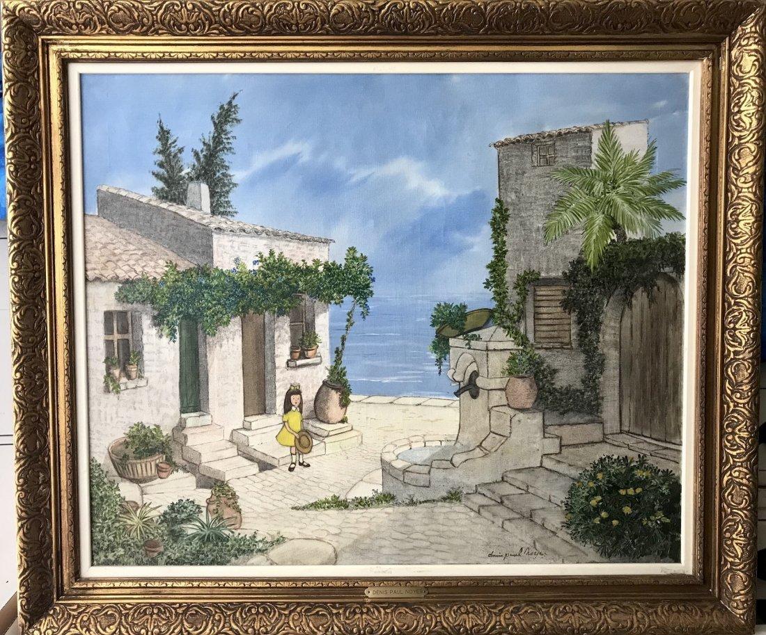 Denis Paul Noyer (French 1940); Mediterranean Courtyard - 2