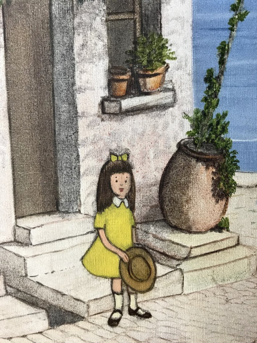 Denis Paul Noyer (French 1940); Mediterranean Courtyard - 3