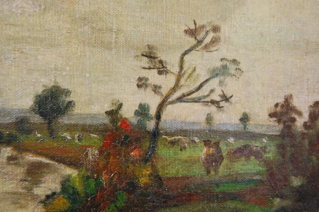 H B; American School- Landscape; oil on canvas - 4