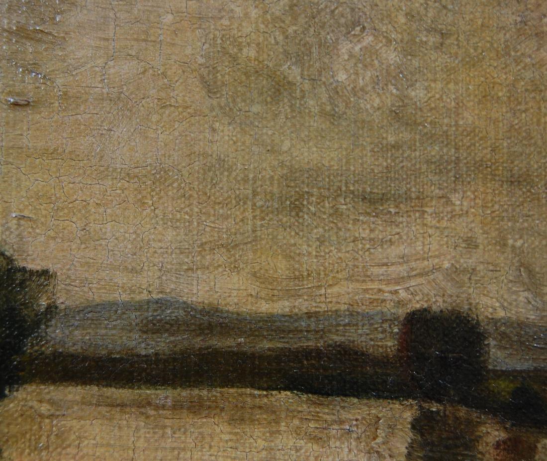 H B; American School- Landscape; oil on canvas - 5