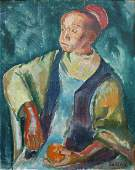 Laszlo Barta (Hungarian 1902 - 1961); Young Moroccan;