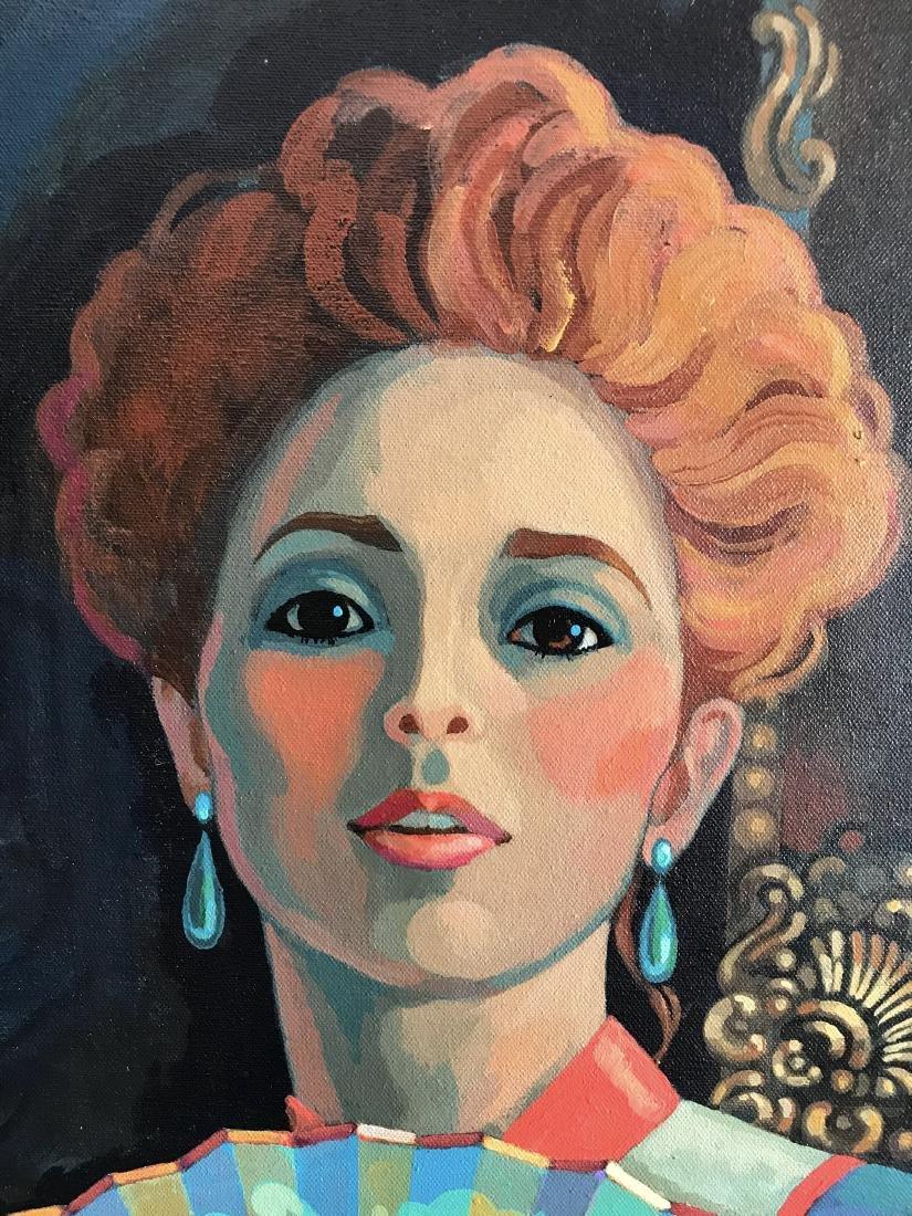 Dick Ellescas; Portrait of a woman; oil on canvas - 4
