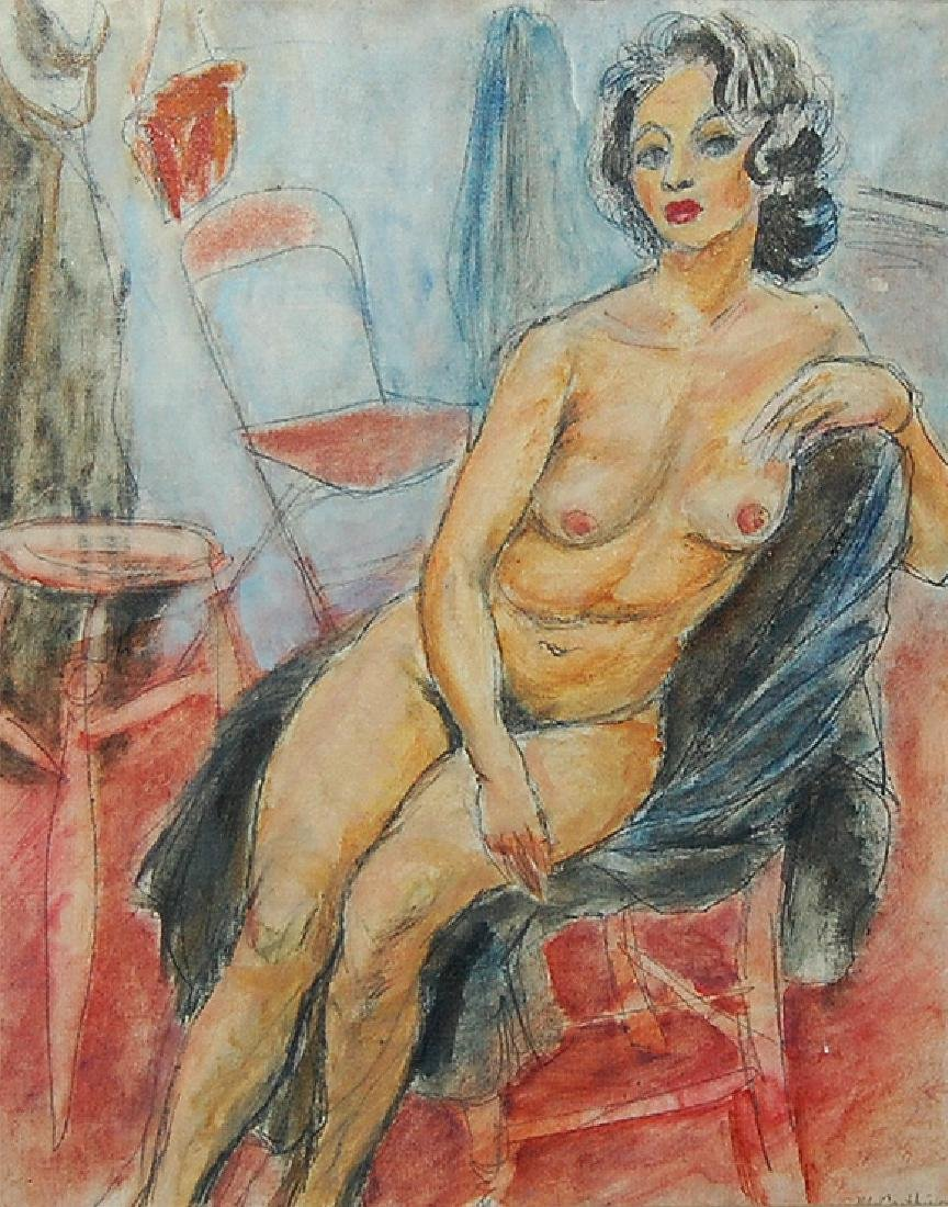 Francis McCarthy (American 1921 - 2005) Seated Nude