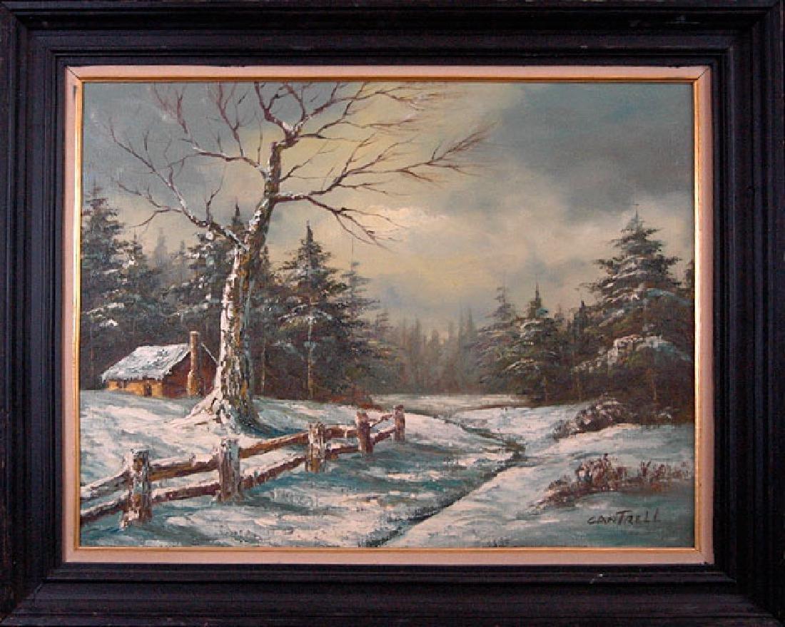 Cantrell Phillip (American 1922-); Winter Landscape; 22