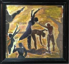 Bela Kadar (Hungarian 1877 - 1956); Dancing Nudes