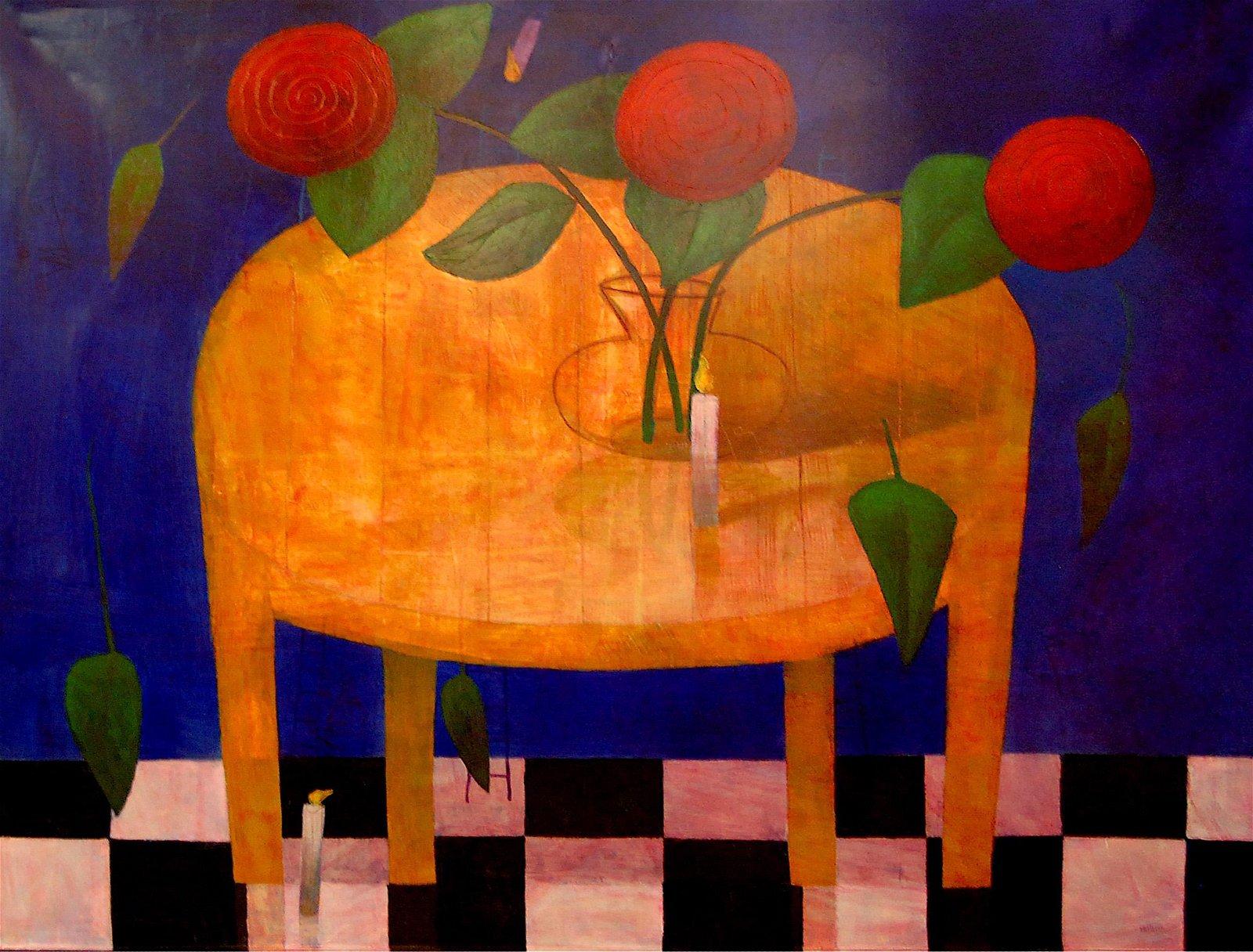 Jorge Vallejos (Peru 1965) - Flower Ritual II