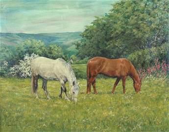 Anne Briggs (British 20th c) - Summit Meadow