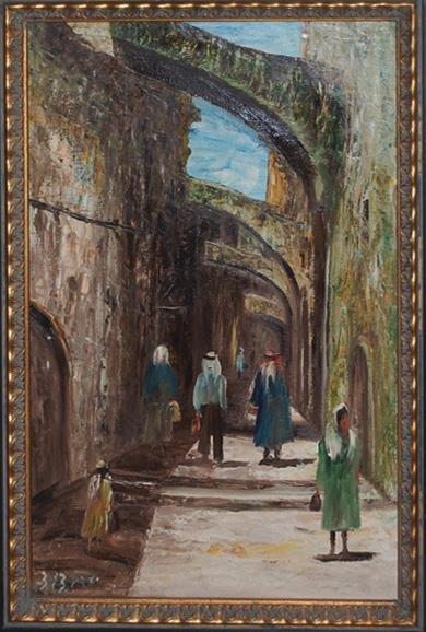 Yakov David - Orientalist Scene - Jerusalem