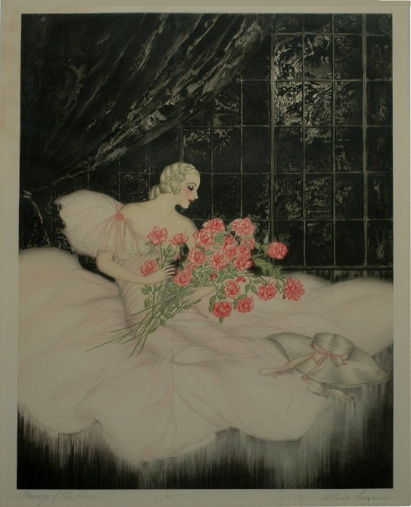 "4: Message of the Roses by A. Lamour; size: 14""x17"", wi"