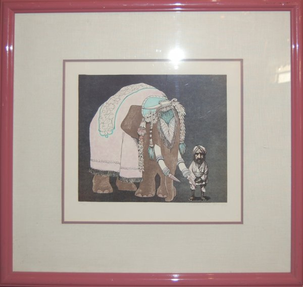 15: Elephant Man by C. Bragg (1931); original lithograp