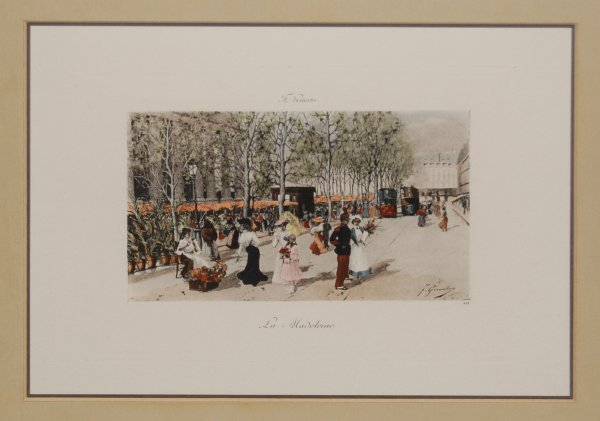 19: La Madeleine; hand colored engraving by F. Giusto (