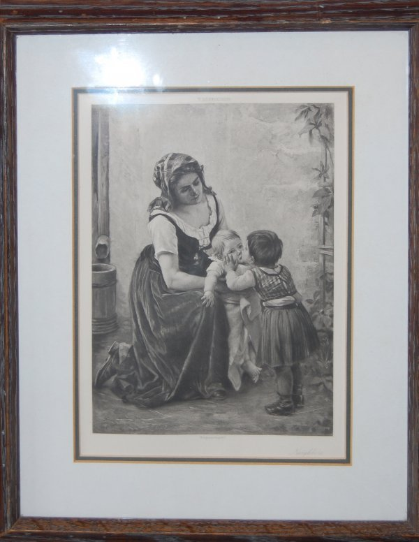 "1012:  ""Neighbors""; engraving by T. Lobrichon (1831-"