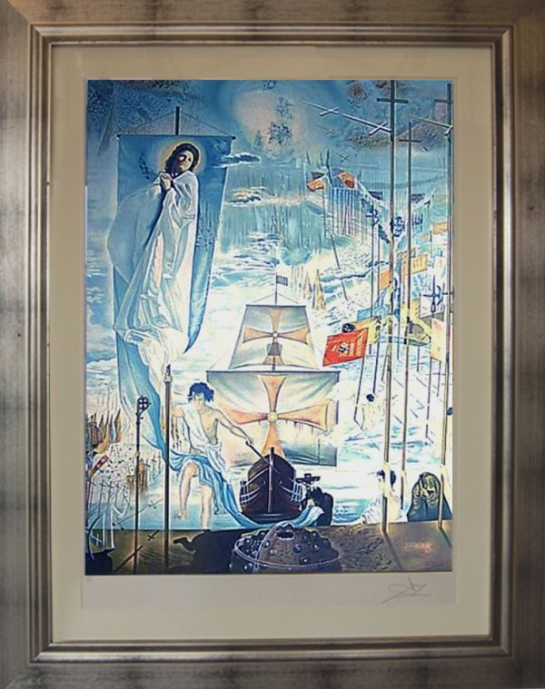 "1024:  ""Discovery Of America"", lithograph by Dali; edit"