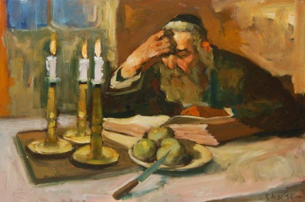 "2485:  ""The Study""; Oil on canvas by Adler Adolf; Size:"