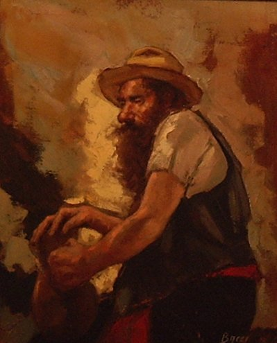 3006: The Art Worker; Oil on canvas by Bacci-Baccio Mar