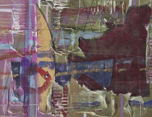 3011: Strike pose #1; Mixed media by Patricia Beatty; S