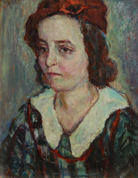 3012: Portrait; Oil on canvas by Bekker David; Size: 18