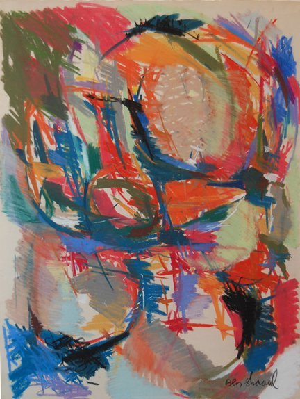 3015: 1960's Abstract; Pastel by Ben-Shaul David; Size: