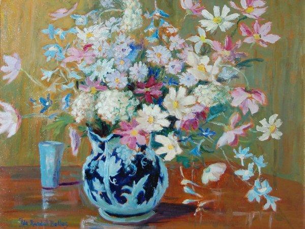 3023: Flower Vase; Watercolor by Bolles Ida Randall; Si