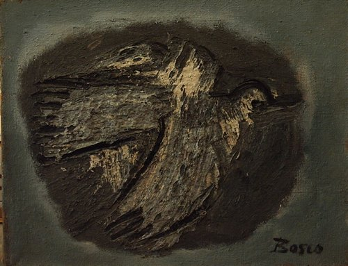 """3025: The Dove; Oil on canvas by Bosco; Size: 17""""x22"""""""