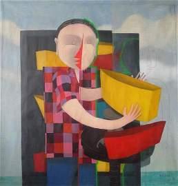 """Jorge Vallejos (Peru 1965) - """"Traktor de Barquitos """""""