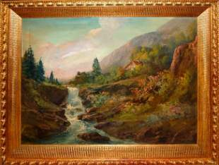 Marino (Italian 20 th c) - Alpine Landscape