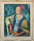 Ladislas Laszlo Barta (Hungarian 1902 - 1961) Portrait