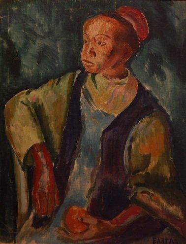 "4: Barta Laszlo (French 1902-1961) ""Young Moroccan"", oi"