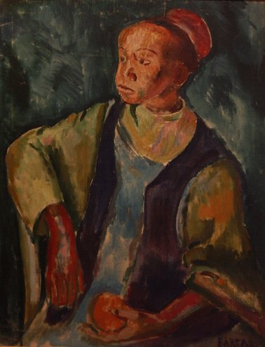 "4: Barta Laszlo (French 1902-1961) ""Young Moroccan"", oi"