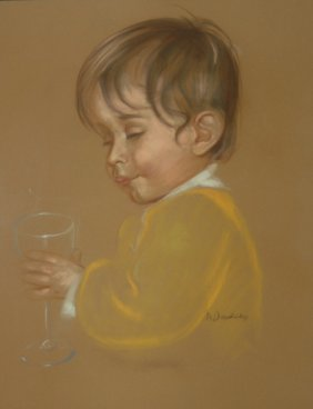 """Baudaux Monique (Belgian 1931-2009)  """"Hiccup"""",  P"""