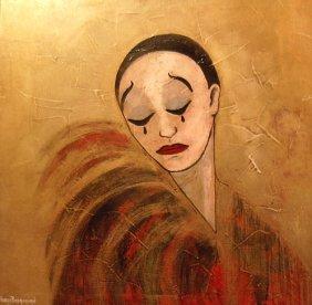 "Bedrossian Nubar (French 20th Century) ""Clown Para"