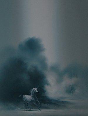 """13: Bodner Joseph (American 1925-1982) """"Pegasus"""" oil"""