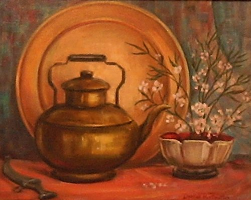 18:Huntington Daphne (American born 1926) ''Tea Ke