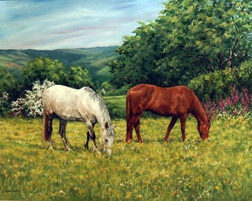 "24: Briggs Anne (British) ""Summit Meadow"", oil on canva"