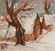 """39: D'Anty Henry (French 20 th century) """"Sous la Neige"""""""