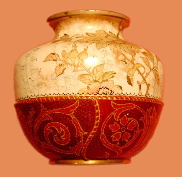 2:  European vase, hand-paintedporcelain, date: around