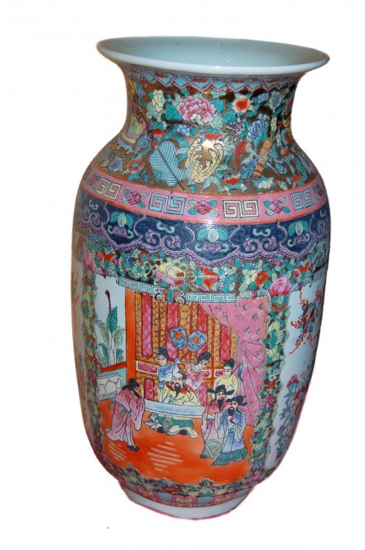 """12: Chinese vase, porcelain, size 11"""" x 18"""" h"""