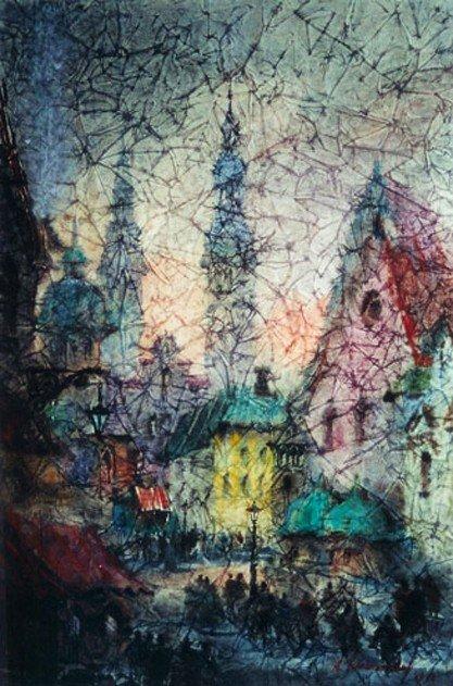 """64: Krasnyansky Anatoly (Ukrainian 1930- ) """"The Church"""