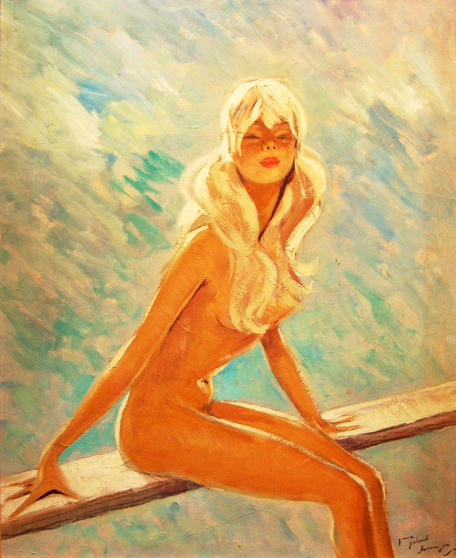"1: Domergue Jean-Gabriel (French 1889-1962) ""Portrait"