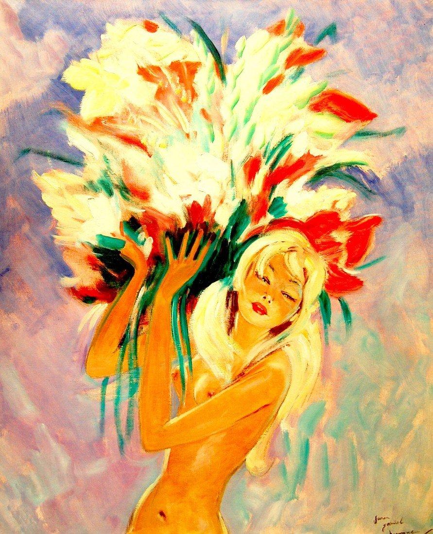 "2: Domergue Jean-Gabriel (French 1889-1962)  ""Portrait"