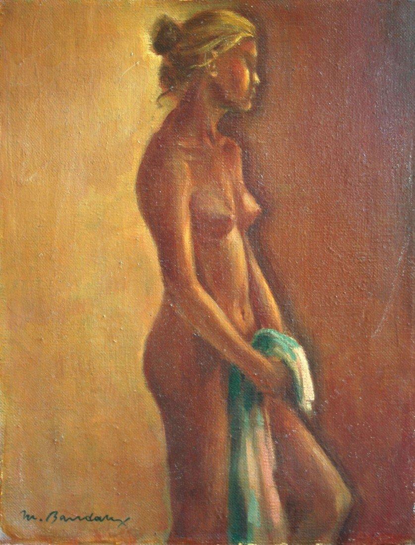 """12: Baudaux Monique (Belgian 1931-2009) """"Self Portrait"""""""