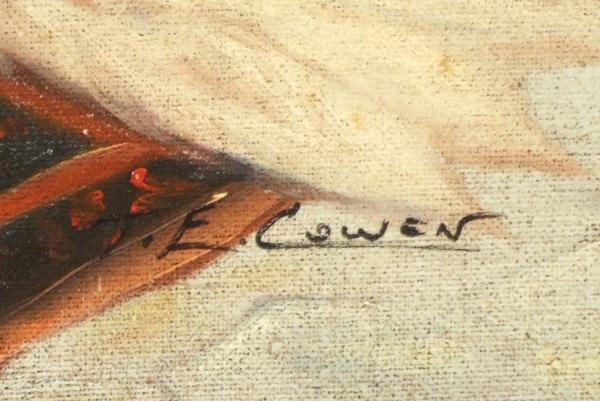 """16: Cowen T.E (20thc)  """"Orientalist Harem Scene"""" - 3"""