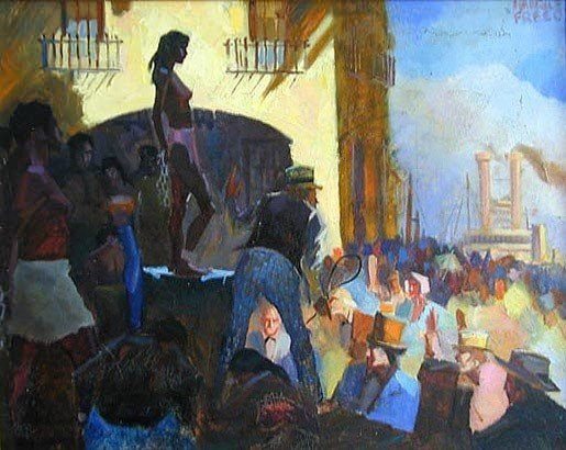 """19: Freed Maurice (American 1911-1981) ''Slave Auction"""""""