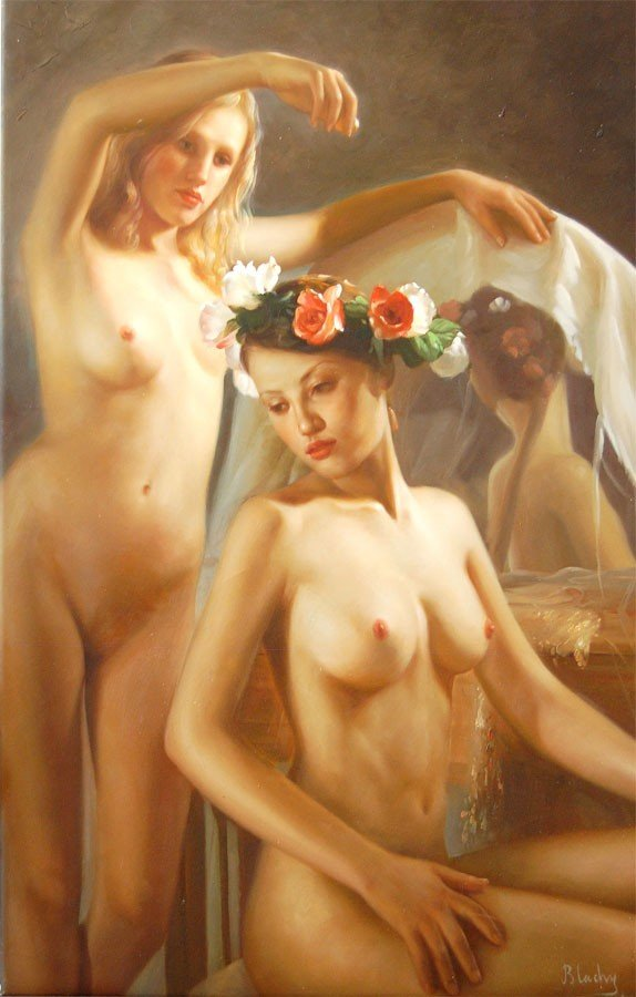 """20: Blachy """"Nude with Flowers"""""""