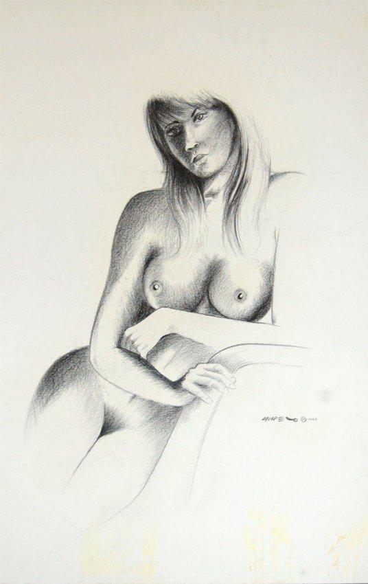 """21: Campero Armando (Mexican 20th century) """"Nude 1"""""""