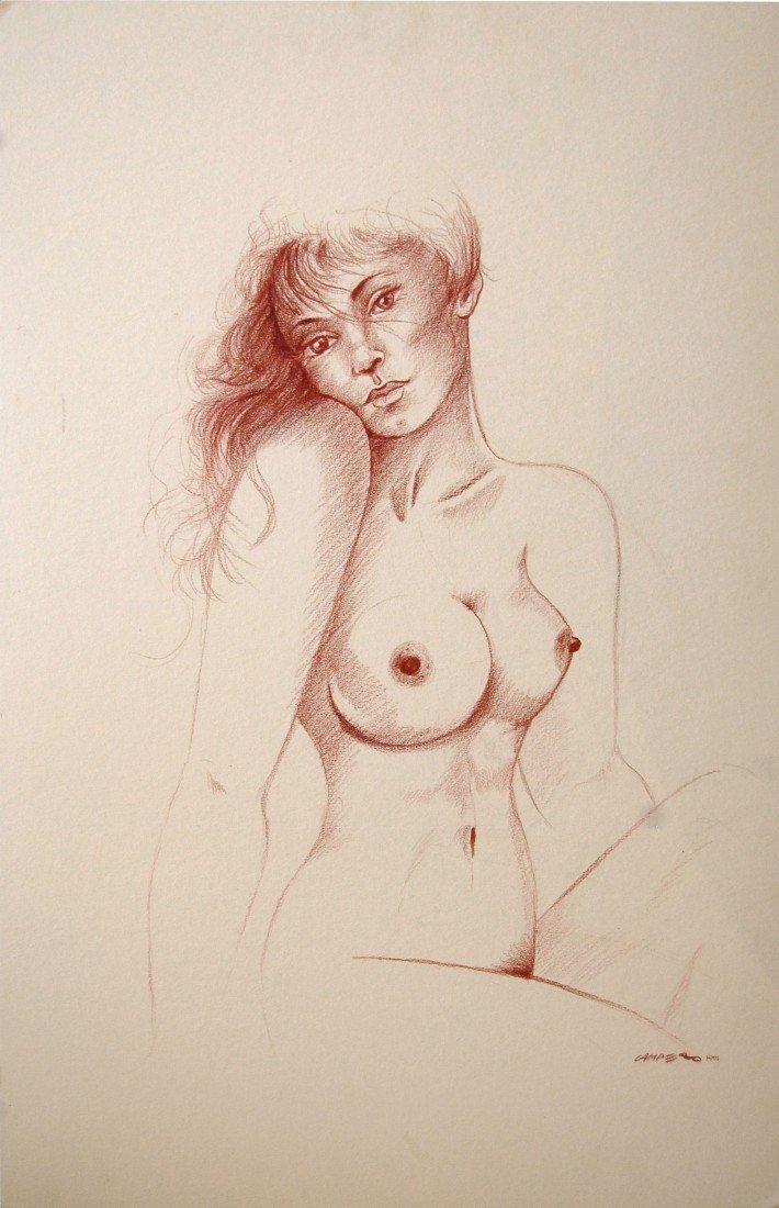 """22: Campero Armando (Mexican 20th century) """"Nude 2"""""""