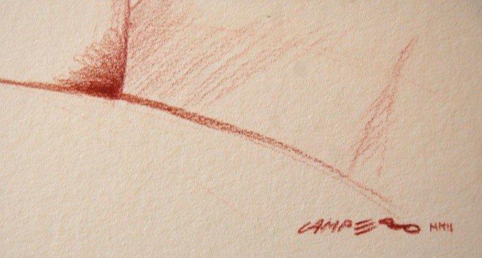 """22: Campero Armando (Mexican 20th century) """"Nude 2"""" - 2"""