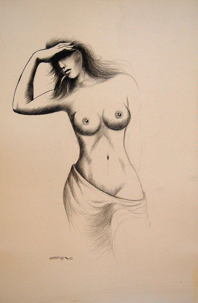 """23: Campero Armando (Mexican 20th century) """"Nude 2"""""""