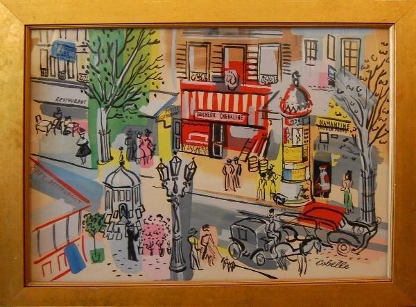 6: Cobelle Charles (French 1902-1994) ''Paris Scene '',